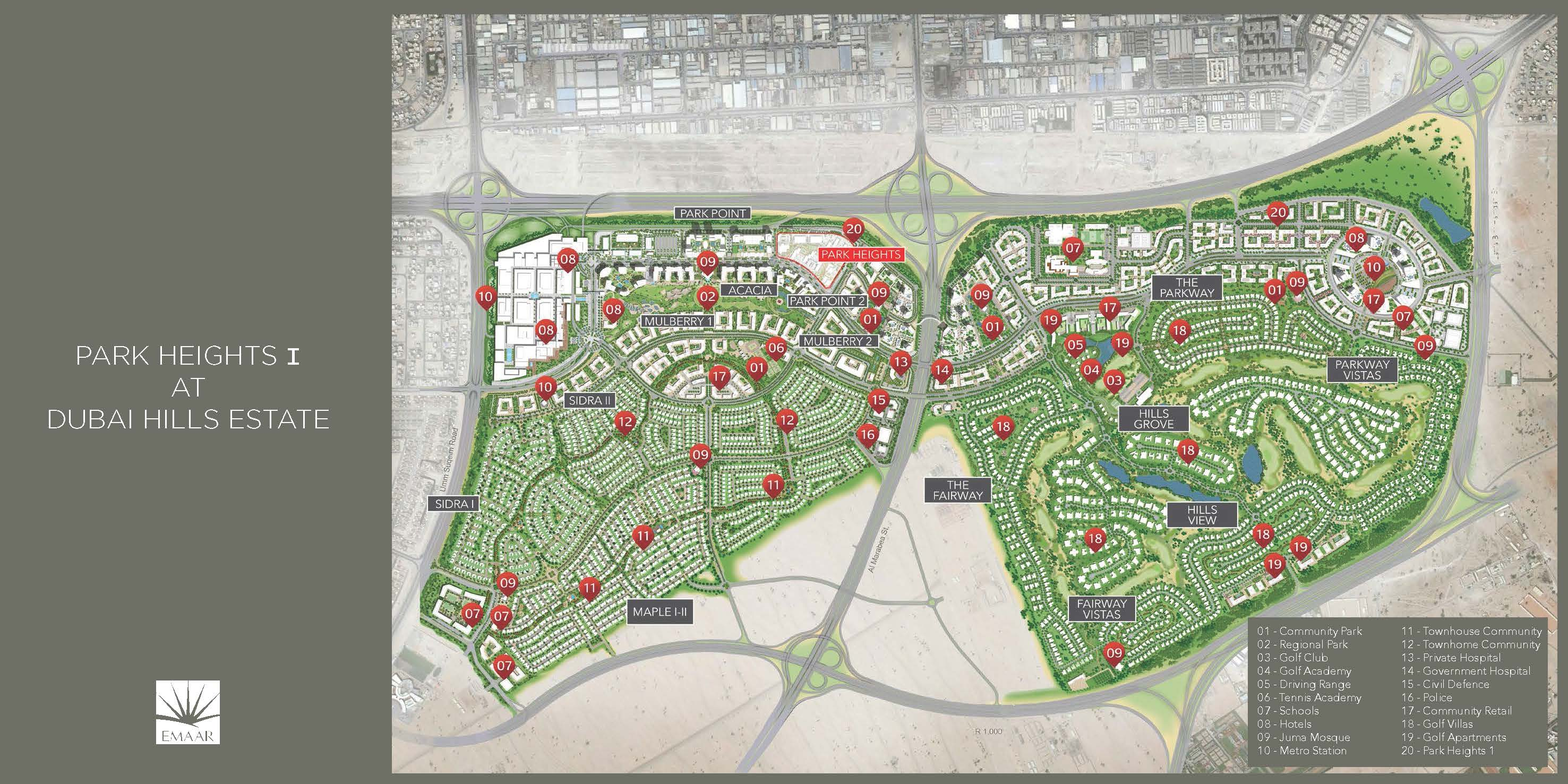 Dubai Hills Estate Master Plan