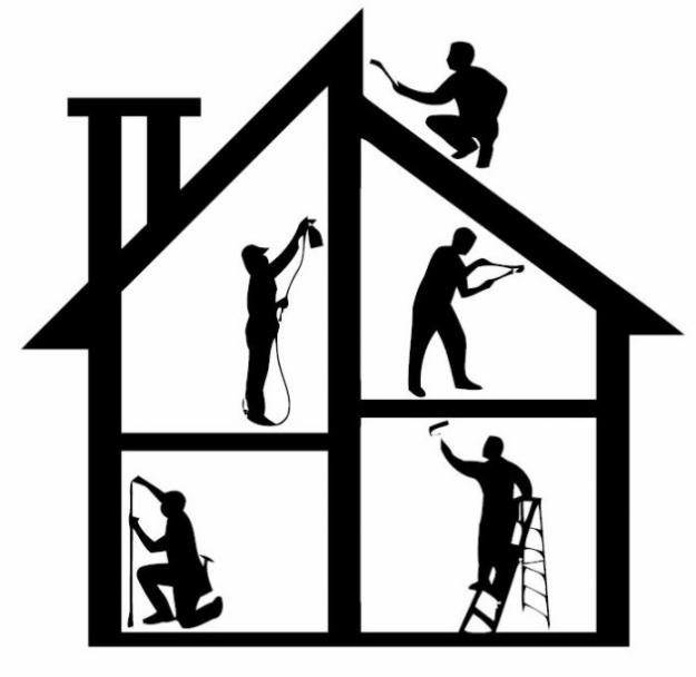 house repair, house painting, plumbing