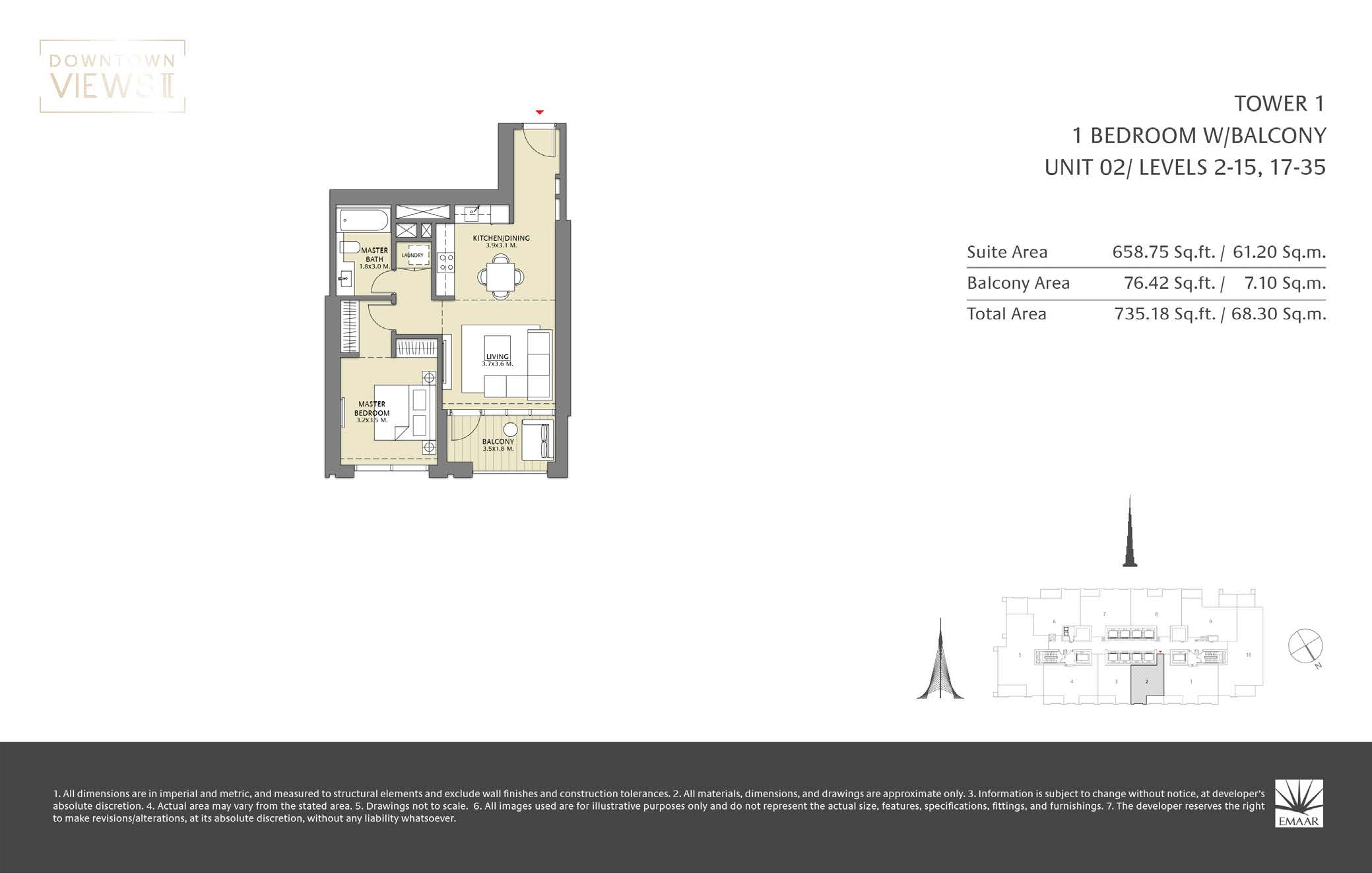 Downtown Veiws II Tower 1 Floorplan Page 03