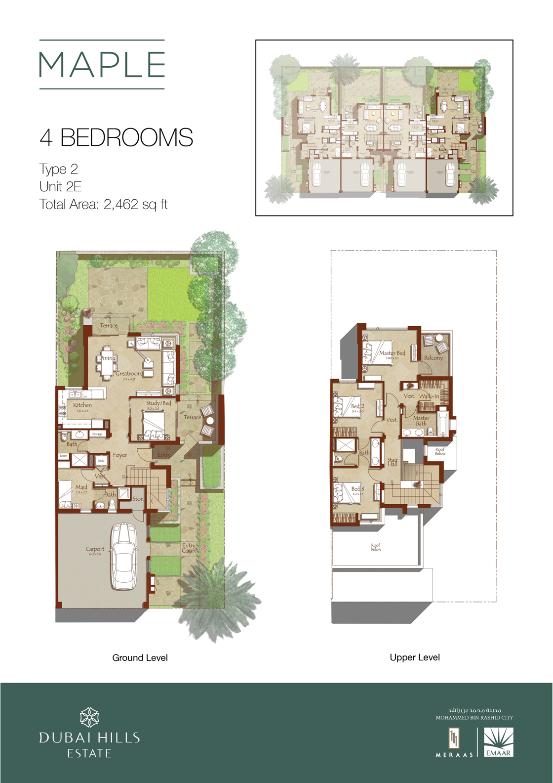 Maple-floorplans3-4 bedroom-1120px tcm130-77820