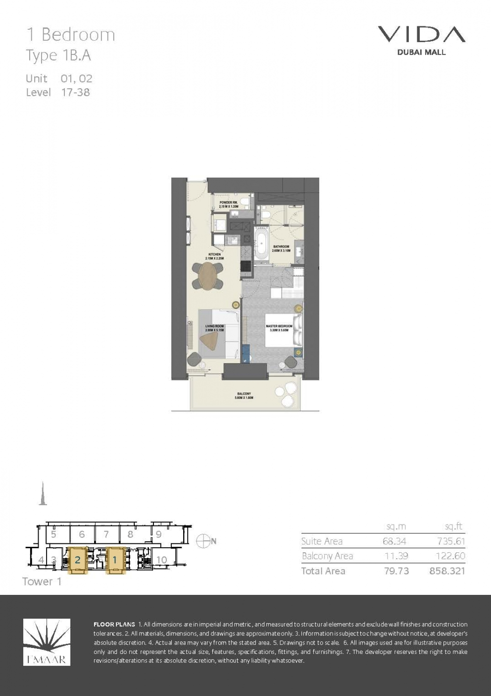 Vida Dubai Mall - Floor Plans T1 Page 02
