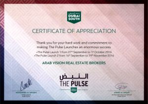 Dubai South Certificate 2016