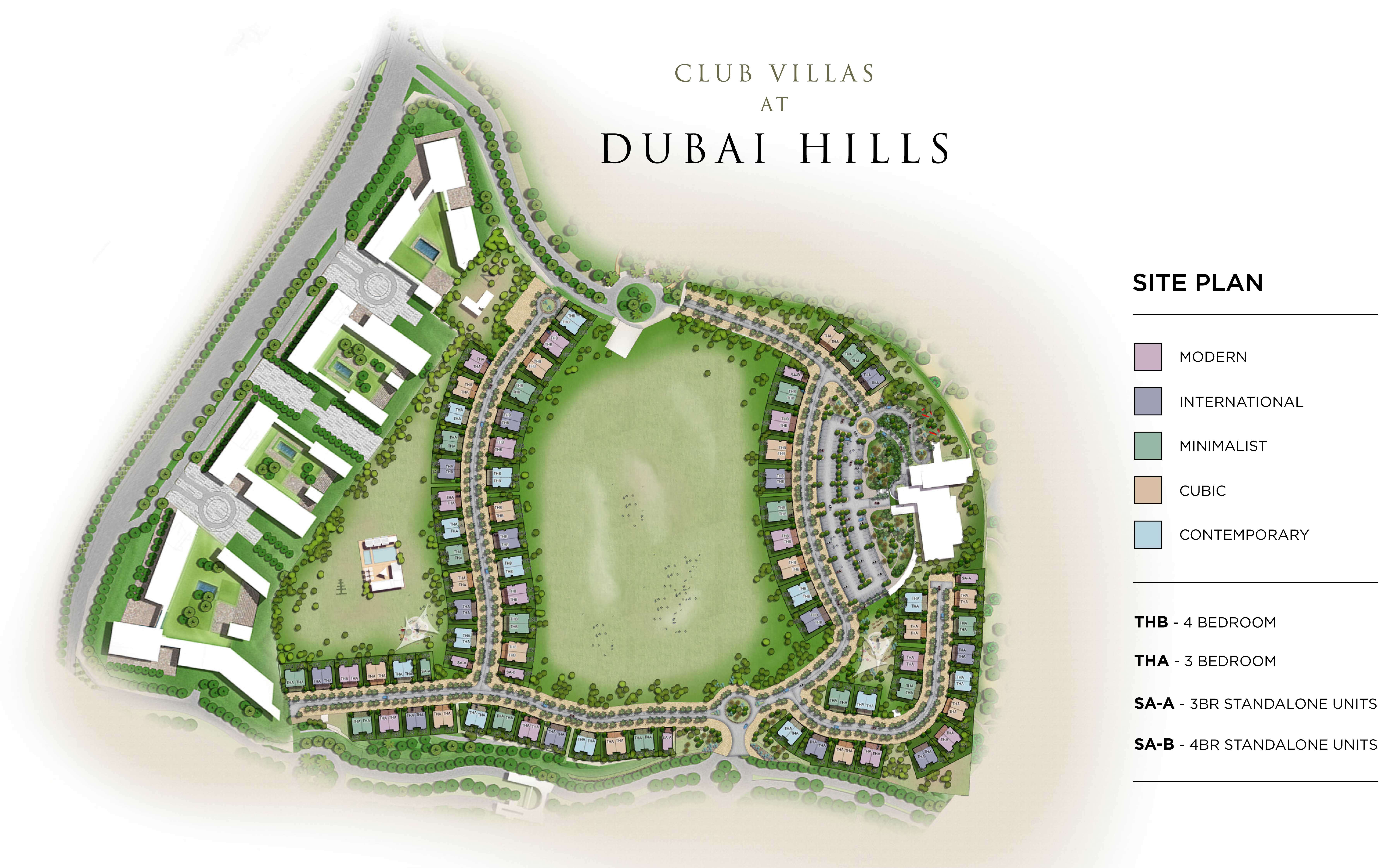 Master Plan Club Villas at dubai Hills