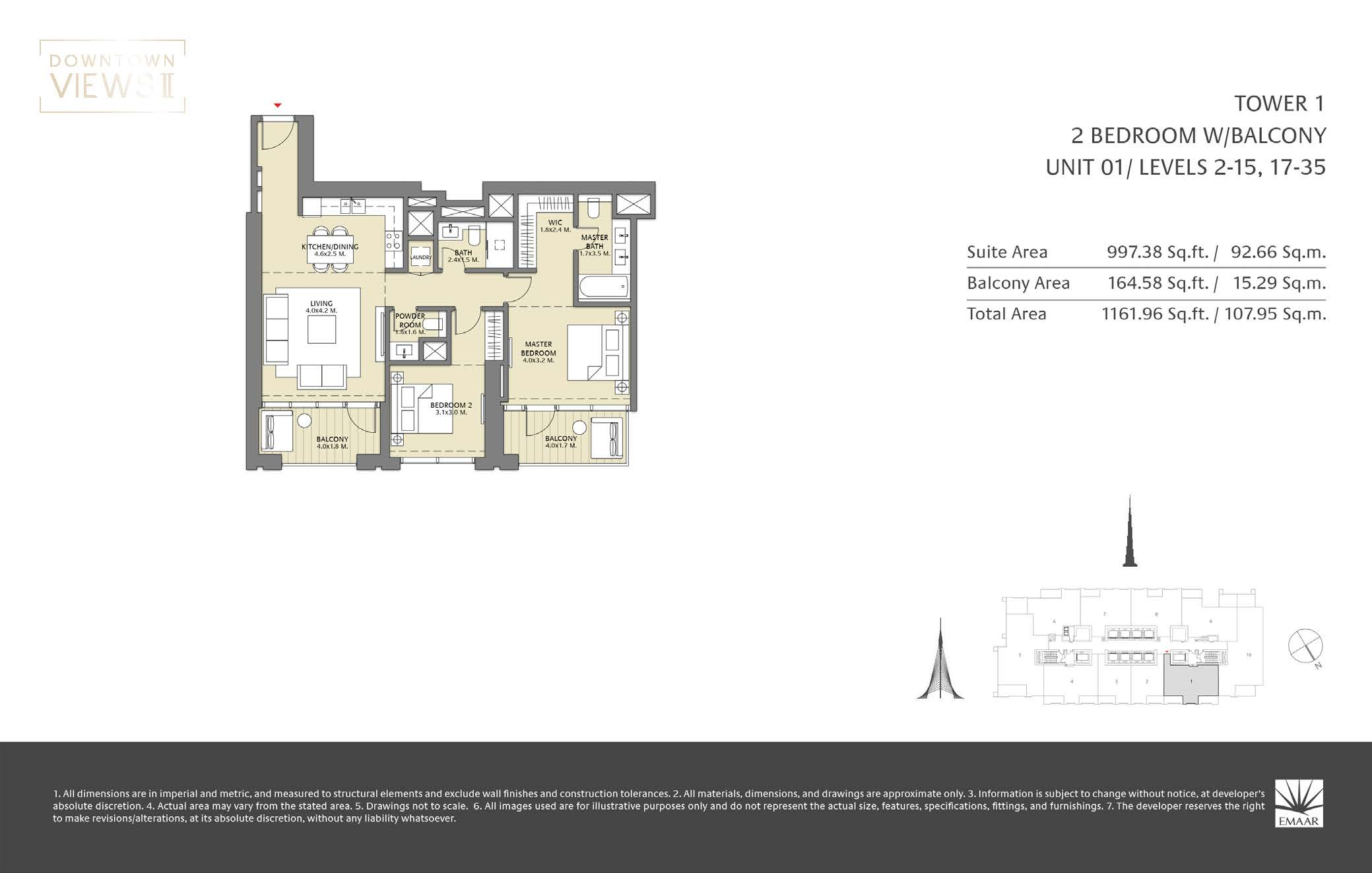 Downtown Veiws II Tower 1 Floorplan Page 02