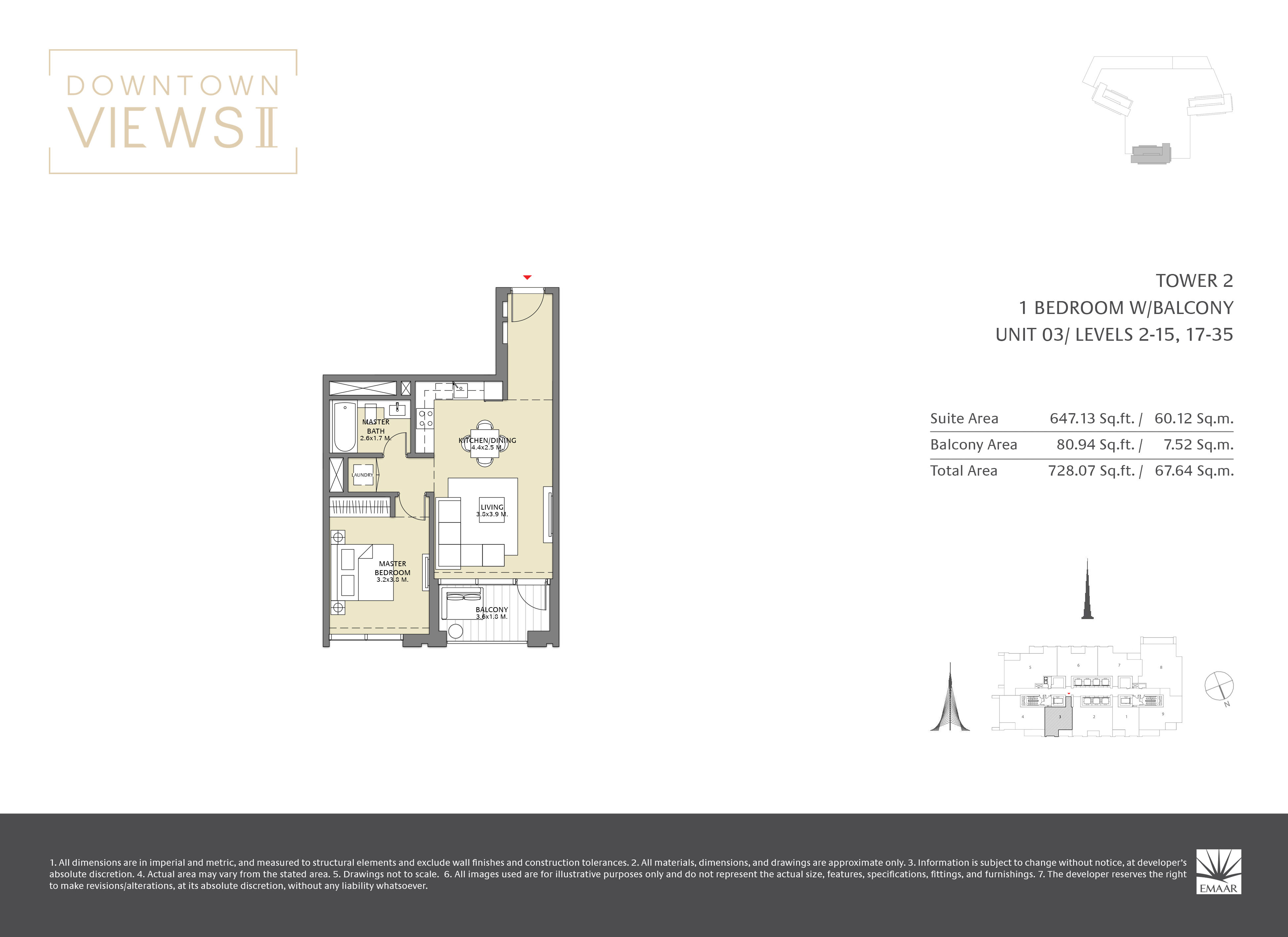 Downtown Views II T2 floor plans Page 03